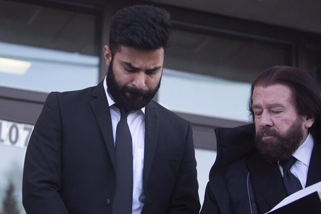 Jaskirat Singh Sidhu leaves provincial court in Melfort, Sask., Tuesday, January, 8, 2019. A sentencing hearing is to begin today for a truck driver who caused the deadly Humboldt Broncos bus crash. The collision last April at a rural intersection in Saskatchewan killed 16 people and injured 13 others on the junior hockey team's bus. THE CANADIAN PRESS/Kayle Neis