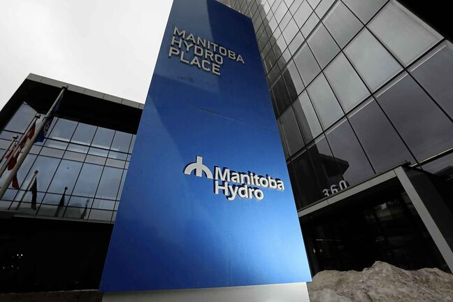 RUTH BONNEVILLE  /  WINNIPEG FREE PRESS    Dynamic photos of the Manitoba Hydro Building sign in front Hydro Building  at 360 Portage Ave.      See story on Hydro Board.      March 21,  2018