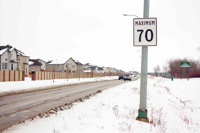 Canterbury Park residents back onto a stretch of Pandora Avenue East that has a speed limit of 70 km/h.