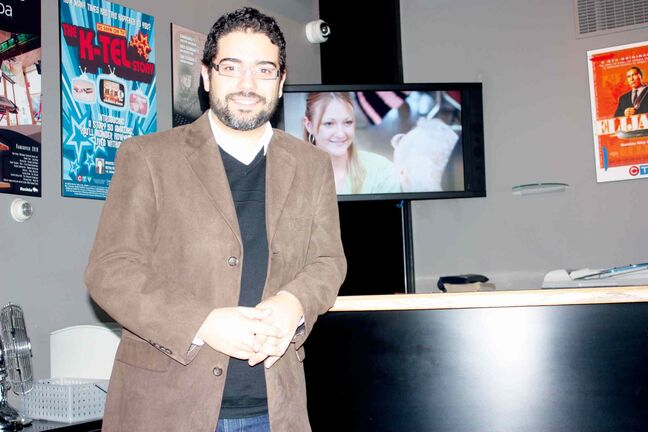 WindCity web series creator Paul Vieira is shown at the Frank Digital office.
