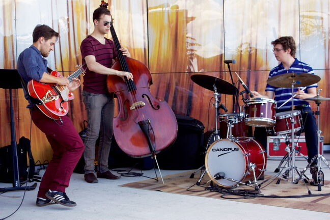 The Glenn Hadley Trio performs during the inaugural concert of the Transcona BIZ Summer Concert Series at Archambault Pavilion on July 19. The series runs Fridays to Aug. 30 from 11:30 a.m. to 1:30 p.m.