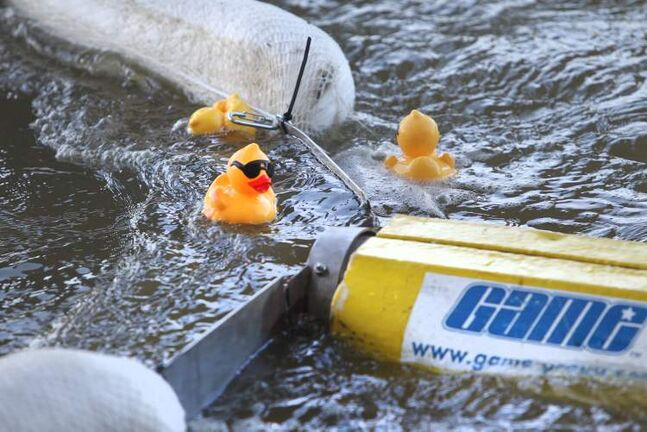 The winners of the Great Manitoba Duck Race.