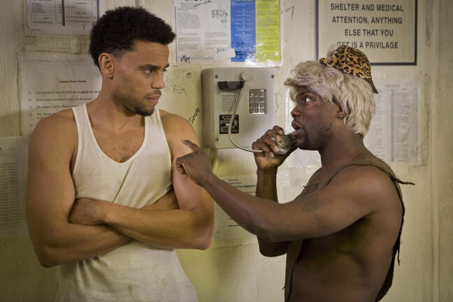 Dominic (Michael Ealy, left) and Cedric (Kevin Hart) have a bit too much fun in Screen Gems'