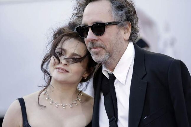 Helena Bonham-Carter and partner director Tim Burton