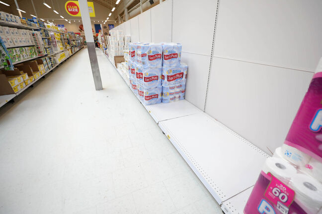 Prices for products such as hand sanitizer, masks, gloves, toilet paper and other goods rose temporarily in big stores as wholesalers and retailers responded to shortages.