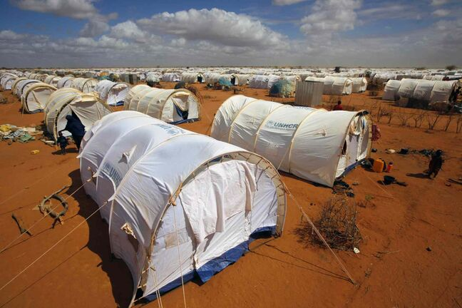 In this August 2011 photo, tents are seen at the UNHCR's LFO Extension camp outside Dadaab, eastern Kenya, 100 kilometers from the Somali border. The Dadaab refugee camp — the largest in the world — was built for 90,000 people. The current population is over 400,000 with thousands of new arrivals crammed into areas outside the refugee camp, waiting to be formally admitted.