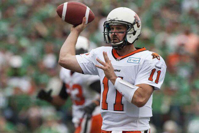 B.C. Lions quarterback Buck Pierce saw action against the Green Riders last Sunday.