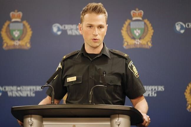 Winnipeg police have arrested a 14-year-old boy for four recent shootings including a homicide on Canada Day, said Winnipeg police Const. Jay Murray. (John Woods / Canadian Press files)