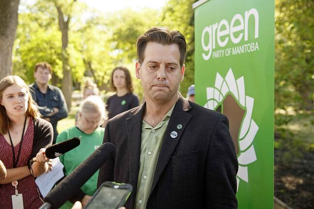 Green Party of Manitoba's leader James Beddome.