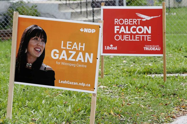 In the core, the NDP is polling at 42 per cent, compared with the Liberals at 31, the Tories at 13, and the Greens at 12. (John Woods / Winnipeg Free Press)