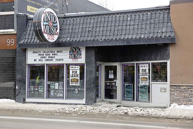 The space that Into the Music occupies in Osborne Village is up for lease.