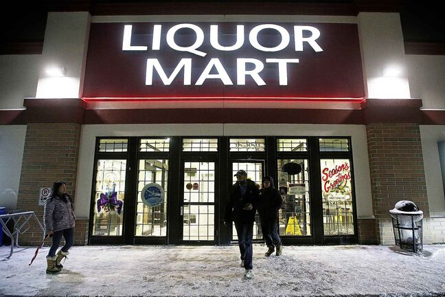 The Liquor Mart on Keewatin in Winnipeg where an employee was injured in a robbery.