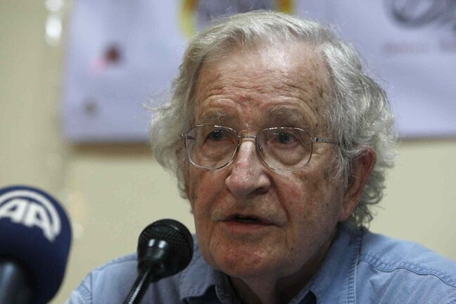 Noam Chomsky (AP Photo/Adel Hana)