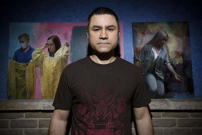 Clinton Roberts, in addition to being a self-taught fine artist, has been employed in the patient transport department of the Health Sciences Centre for the last 12 years.