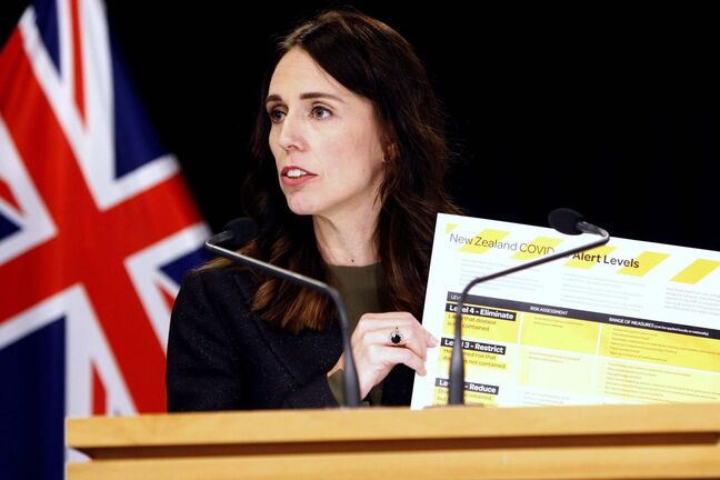 Nick Perry / The Associated Press files</p><p>Prime Minister Jacinda Ardern with a new alert system for COVID-19. New Zealand never wavered from the imposed restrictions set out in each level.</p>