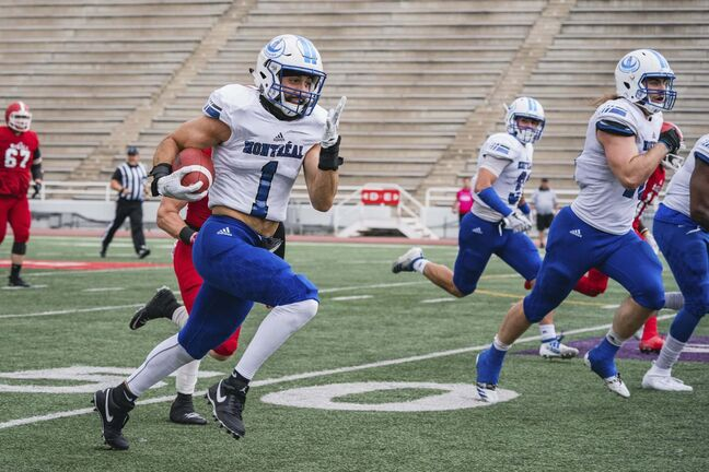 Redha Kramdi of the University of Montreal was chosen in the second round of the 2021 CFL Draft by the Winnipeg Blue Bombers. </p>