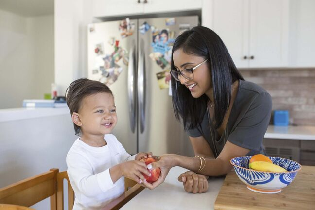 Supplied</p><p>Registered dietitian Nita Sharda (with her son Jaidev) knows how picky little eaters can lead to food waste.</p>