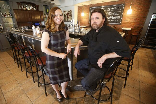 Melanie and Tristan Foucault, owners of Preservation Hall, are optimistic about the future of their French resto, which opened during the pandemic. (John Woods / Winnipeg Free Press)