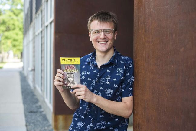 Connor Wielgosz is the author of two different plays at this year's fringe fest, Fool's Gold and Less Miserable.</p>