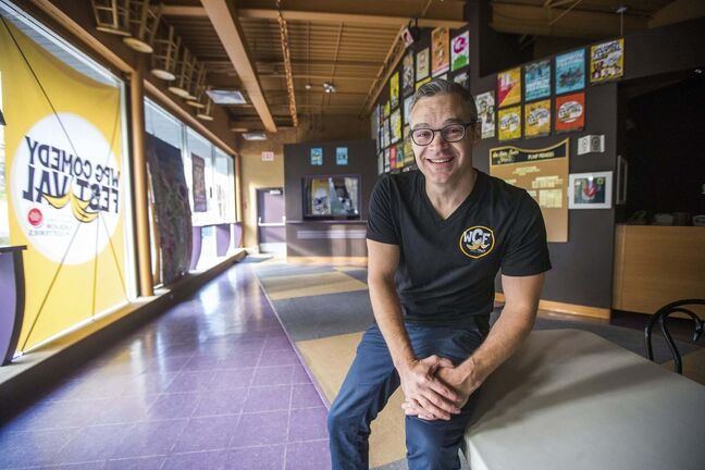 MIKAELA MACKENZIE / WINNIPEG FREE PRESS</p><p>Dean Jenkinson, director of the Winnipeg Comedy Festival, saw the 2020 event cancelled because of COVID-19.</p>