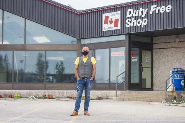 MIKAELA MACKENZIE / WINNIPEG FREE PRESS FILES</p> Resch, the second-generation owner of the Emerson Duty Free shop, located just a few steps north of the border, said he's pleased that soon Canadian travellers will be driving past his business again.