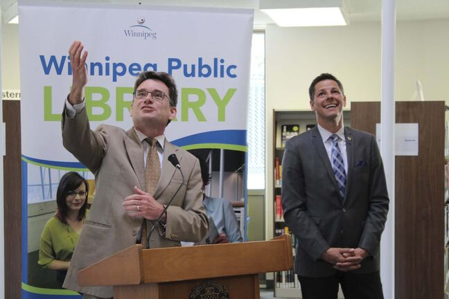 MAGGIE MACINTOSH / WINNIPEG FREE PRESS</p><p>Coun. Brian Mayes at the St. Vital Library reopening.</p>