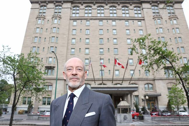 John Perrin&rsquo;s family owned the Hotel Fort Garry when it was taken for tax sale - but as the family says the taxes were based on a wildly inflated assessment. He wants an apology from the province. (Mike Deal / Winnipeg Free Press)</p>