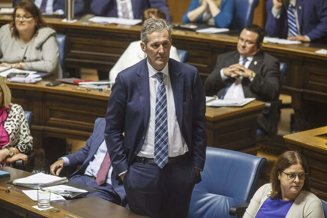 MIKE DEAL / WINNIPEG FREE PRESS</p><p>Premier Brian Pallister </p>