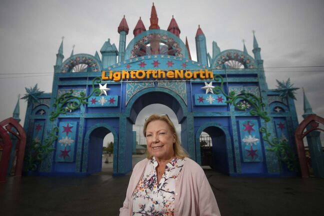 Dorothy Dobie, co-chair of The Lights Of The North Chinese Lantern Festival. (John Woods / Winnipeg Free Press)</p></p>