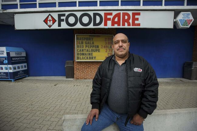<p>Munther Zeid at his Food Fare location at 2285 Portage Avenue.
