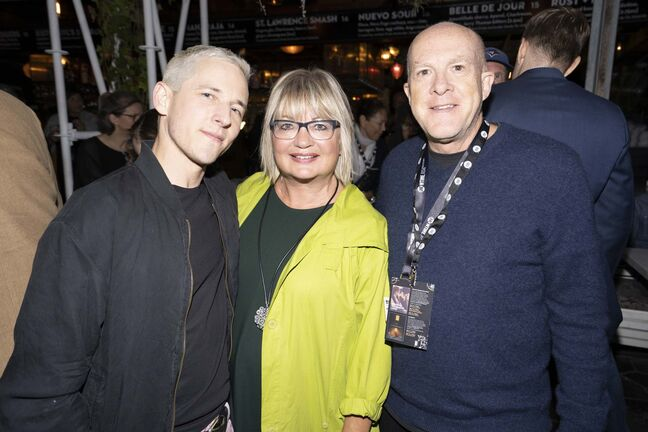 Cameron McDonald photo</p><p>Jeremiah Terminator LeRoy director Justin Kelly (left) Carole Vivier and producer Cassian Elwes</p></p>