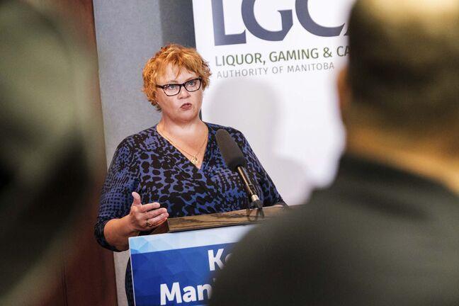 Elizabeth Stephenson, chief administrative officer, Liquor, Gaming and Cannabis Authority of Manitoba. (Daniel Crump / Winnipeg Free Press)