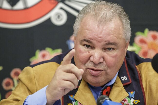 Mike Deal / Winnipeg Free Press</p><p>MMF President David Chartrand said the group will take the province to court to get the rest of the money. </p>
