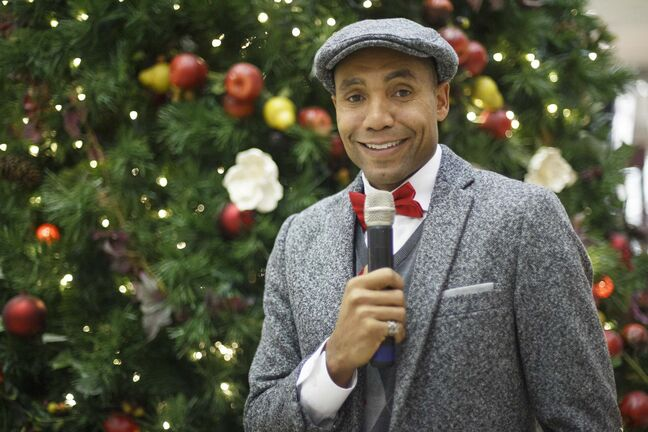 Chad Celaire bills himself as The Christmas Singer. 'Music has been a part of my life for as long as I can remember... I made a promise to myself to seriously pursue singing so I wouldn't regret not giving it a shot.' (Mike Deal photos / Winnipeg Free Press)