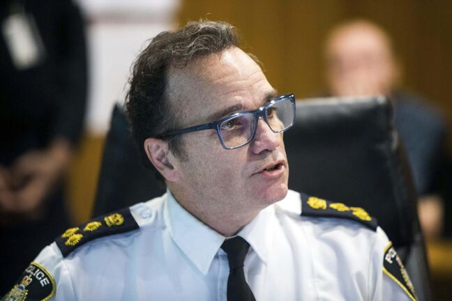 Winnipeg police Chief Danny Smyth said it was unfortunate the courts had to determine whether the deal between Hydro and the MMF was a binding agreement. (Mikaela MacKenzie / Winnipeg Free Press files)