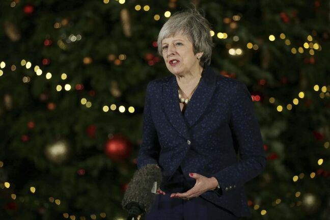 TIM IRELAND / THE ASSOCIATED PRESS FILES&lt;p/&gt;</p><p>British Prime Minister Theresa May</p>
