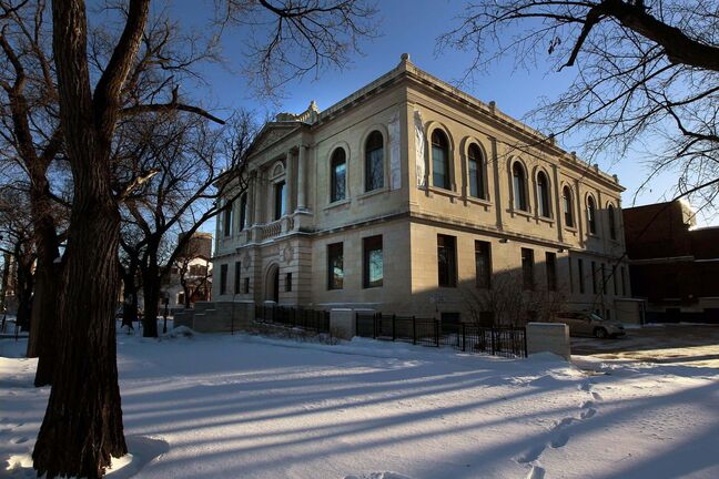 The Winnipeg Foundation is donating $5 million to the city with the intent to kick-start two projects the foundation supports: refurbishing the Carnegie Library on William Avenue and an active-transportation bridge across the Assiniboine River south of the legislature. (Phil Hossack / Winnipeg Free Press)