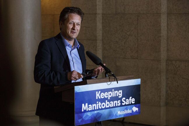 Provincial Infrastructure Minister Ron Schuler (above) announced that as of Sept. 1, commercial truck drivers would undertake mandatory training of 121.5 hours, which the Manitoba Trucking Association would like to see doubled. (Mike Deal / Winnipeg Free Press files)