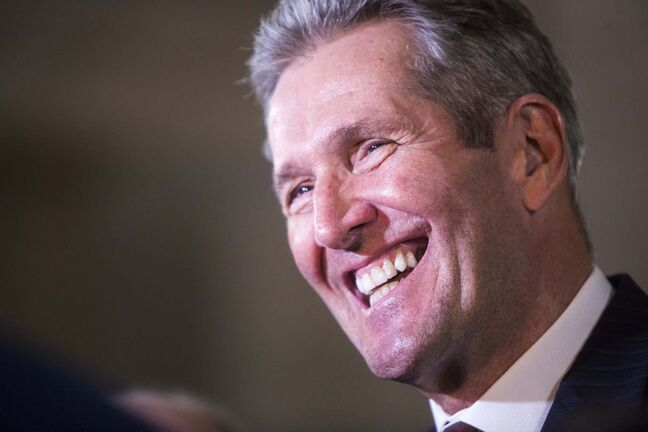 Premier Brian Pallister's pledge to cut the provincial sales tax to seven per cent is supported by 60 per cent of Manitobans, a new poll shows. MIKAELA MACKENZIE / WINNIPEG FREE PRESS </p>
