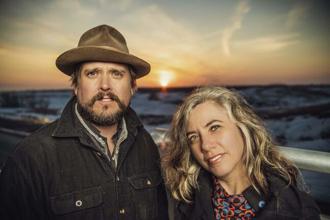 Cara Luft and JD Edwards kept circling back to the idea of home and what it means in a larger context. (Aaron Ives)