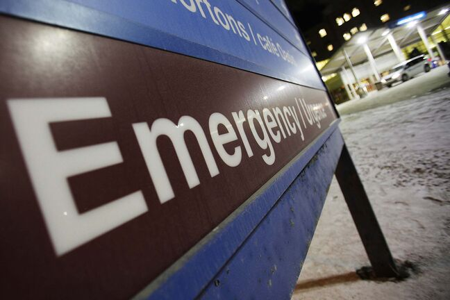 December 28, 2014 - 141228 - Emergency room signage at St. Boniface Hospital Monday, December 29, 2014. John Woods / Winnipeg Free Press</p>