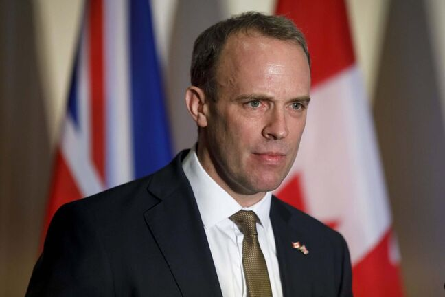 Cole Burston / The Canadian Press</p><p>British Foreign Secretary Dominic Raab </p>