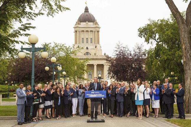 it's hard to ignore the reality, all things considered, it will be good — for both the party and Brian Pallister — if he wins his second majority mandate and then starts planning his retirement. (Mike Deal / Winnipeg Free Press)