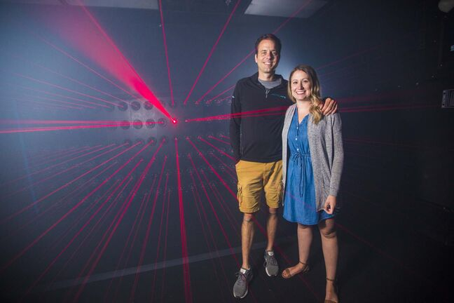 Adam and Megan Schmidt own Activate, an amusement place that is visited by as many as 2,000 Winnipeggers every week.