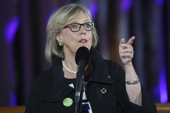 Algonquin territory was acknowledged by Green Leader Elizabeth May. (Chris Wattie / The Canadian Press)