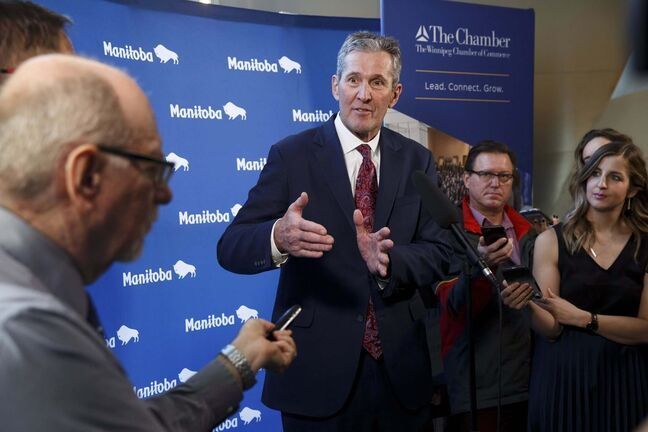 Premier Brian Pallister is on the brink of a balanced budget. (Mike Deal / Winnipeg Free Press files)