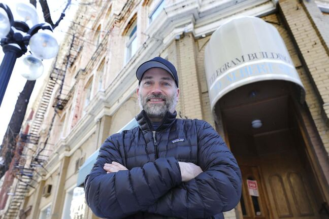 RUTH BONNEVILLE / WINNIPEG FREE PRESS</p><p>Chef Ben Kramer stands outside 70 Albert Street, where a 10-day pop-up dinner experience will be hosted in February.</p>
