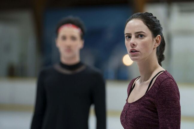 Netflix</p><p>Kat Baker (Kaya Scodelario) and Gabriel Richardson (Johnny Weir) star in Spinning Out.