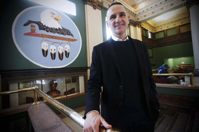 Kevin Chief, former educator, politician and VP of the Business Council of Manitoba, and supporter of the Indigenous community, is photographed at the Neeginan Centre in Winnipeg Tuesday, January 21, 2020. Chief has joined BMO Financial Group's new national Indigenous Advisory Council advising on Indigenous issues in the wake of an Indigenous man and his 12-year-old granddaughter getting handcuffed while trying to open a bank account in Vancouver.</p><p>Reporter: Cash</p>