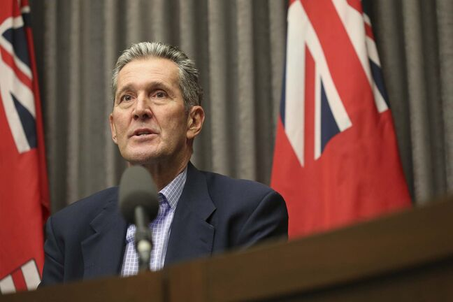 SHANNON VANRAES / FREE PRESS FILES</p><p>Premier Brian Pallister said Tuesday Manitobans who travel elsewhere will soon have to self-isolate for 14 days when they return.</p></p>